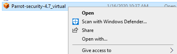 Download it from here and load it into VirtualBox.