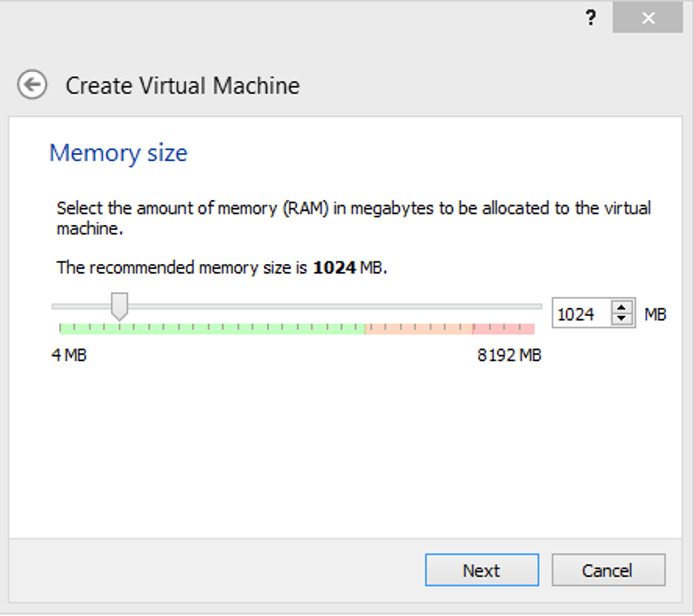 Set the memory size