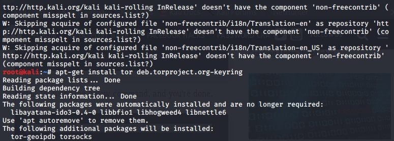 After updating install TOR