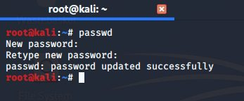 Set New Password for Root