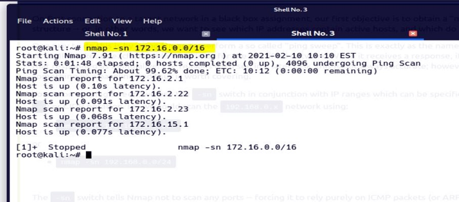 Task 9 Scan Types: ICMP Network Scanning 2