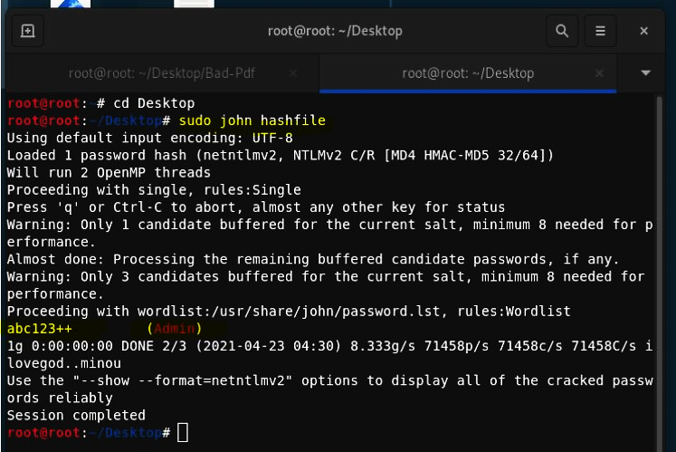 Capture NTLM Hashes 6